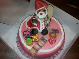Weihnachtsmann Torte